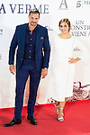 """Leire Martinez and his husband Jacobo Bustamante during the premiere of the spanish film """"Un Monstruo Viene a Verme"""" of J.A. Bayona at Teatro Real in Madrid. September 26, 2016. (ALTERPHOTOS/Borja B.Hojas)"""