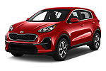 2020 KIA Sportage LX 5 Door SUV angular front stock photos of front three quarter view