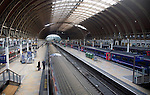 Trains at platforms, Paddington railway station, London, England