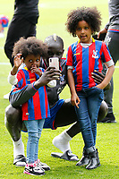 Mamadou Sakho of Crystal Palace and his 2 girls during the EPL - Premier League match between Crystal Palace and West Bromwich Albion at Selhurst Park, London, England on 13 May 2018. Photo by Carlton Myrie / PRiME Media Images.