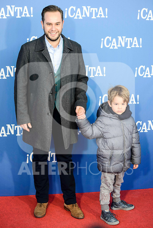 "Jorge Blass attends to the premiere of the film ""¡Canta!"" at Cines Capitol in Madrid, Spain. December 18, 2016. (ALTERPHOTOS/BorjaB.Hojas)"