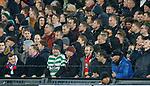 28.11.2019: Feyenoord v Rangers: Celtic fan in Feyenoord end celebrating goal