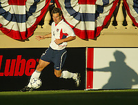 Greg Vanney of the U.S. National team dribbles the ball in a game against Wales at Spartan Stadium, in San Jose, Calif., Monday, May 26, 2003. The USA won 2-0.