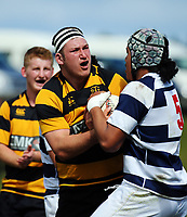 Taranaki hooker Bradley Slater during the rugby match between Taranaki and Auckland Development in the Jack Hobbs Memorial Under-19 Rugby Tournament at Owen Delaney Park in Taupo, New Zealand on Wednesday, 13 September 2012. Photo: Dave Lintott / lintottphoto.co.nz