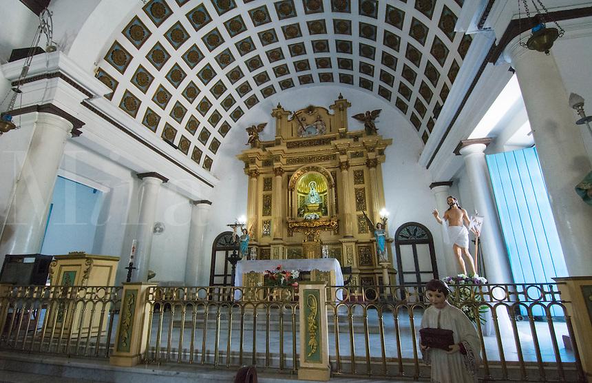 Havana Cuba Santeria Regla Church interior with African religion and catholic in Habana