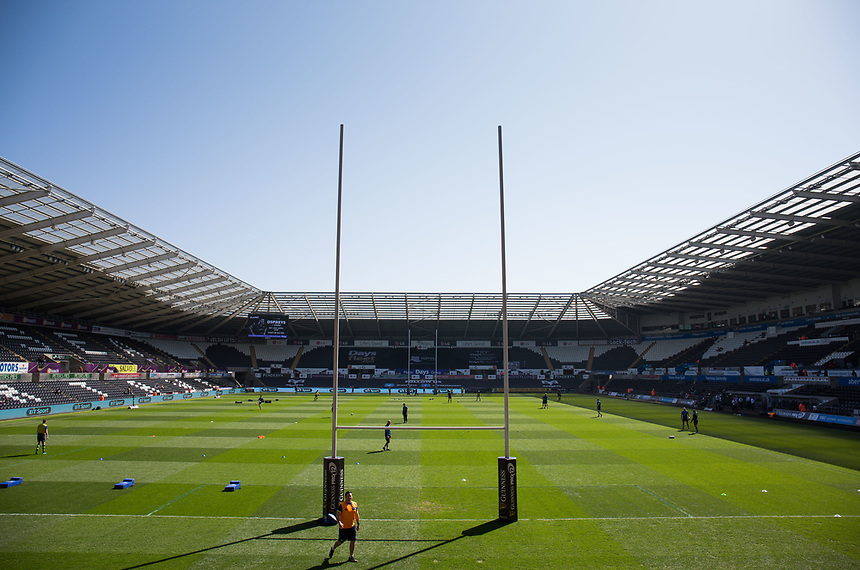A general view of Liberty Stadium, home of Ospreys<br /> <br /> Photographer Simon King/CameraSport<br /> <br /> Guinness PRO12 Round 19 - Ospreys v Leinster Rugby - Saturday 8th April 2017 - Liberty Stadium - Swansea<br /> <br /> World Copyright &copy; 2017 CameraSport. All rights reserved. 43 Linden Ave. Countesthorpe. Leicester. England. LE8 5PG - Tel: +44 (0) 116 277 4147 - admin@camerasport.com - www.camerasport.com