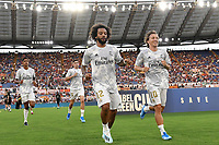 Marcelo and Luka Modric of Real Madrid <br /> Roma 11/08/2019 Stadio Stadio Olimpico Football friendly match pre season 2019/2020 AS Roma - Real Madrid <br /> Mabel Green Cup Trophy <br /> Foto Andrea Staccioli / Insidefoto