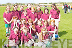 TEAM: Causeway Girls Team who played in the Camogie Blitz at the Causeway GAA Grounds on Monday. Front row l-r: Lorraine Keane, Sinead Leen and Ciara Canty. Middle row l-r: Claire Murphy, Rachel Kiely, Noreen Gilbert, Aideen Casey, Ciara Donegan, Rachel Burke, Aoife O'Connor, Mary Ann Whyte, Louise Hobbert, Emma Lawlor and Sinead Fealy. Back row l-r: Karla Whyte, Niamh Leen, Emma Griffin and Andrea Hanly..