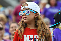 Orlando, FL - Sunday June 26, 2016: Fan  during a regular season National Women's Soccer League (NWSL) match between the Orlando Pride and the Portland Thorns FC at Camping World Stadium.