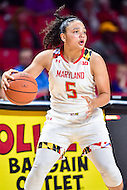 College Park, MD - NOV 16, 2016: Maryland Terrapins guard Destiny Slocum (5) in action during game between Maryland and Maryland Eastern Shore Lady Hawks at XFINITY Center in College Park, MD. The Terps defeated the Lady Hawks 106-61. (Photo by Phil Peters/Media Images International)