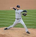Hisashi Iwakuma (Mariners),.MAY 15, 2013 - MLB :.Hisashi Iwakuma of the Seattle Mariners pitches during the baseball game against the New York Yankees at Yankee Stadium in The Bronx, New York, United States. (Photo by AFLO)