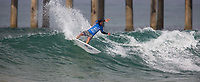 Huntington Beach, CA - Sunday August 06, 2017: Tomas Hermes during a World Surf League (WSL) Qualifying Series (QS) Quarterfinal heat in the 2017 Vans US Open of Surfing on the South side of the Huntington Beach pier.