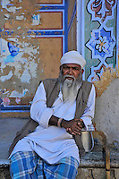 relaxing old man, Jaipur India