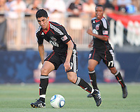 Pablo Hernandez #21 of D.C. United during a US Open Cup match against the Harrisburg City Islanders at the Maryland Soccerplex on July 21 2010, in Boyds, Maryland. United won 2-0.