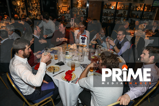 Pre-match hospitality ahead of the Greene King IPA Championship match between London Scottish Football Club and Jersey Reds at Richmond Athletic Ground, Richmond, United Kingdom on 16 March 2018. Photo by David Horn.