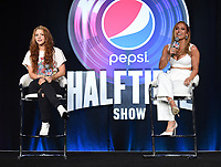 MIAMI, FL - JANUARY 30: Shakira and Jennifer Lopez attend the press conference for the Pepsi Super Bowl LIV halftime show during Super Bowl LIV week on January 30, 2020 in Miami, Florida. (Photo by Frank Micelotta/Fox Sports/PictureGroup)