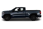Car Driver side profile view of a 2019 GMC Sierra-1500 Elevation 4 Door Pickup Side View