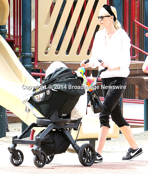 Pictured: Jaime King, James<br /> Mandatory Credit &copy; ACLA/Broadimage<br /> Jaime King, husband Kyle Newman and baby James at the Coldwater Canyon Park in Beverly Hills<br /> <br /> 3/29/14, Beverly Hills, California, United States of America<br /> <br /> Broadimage Newswire<br /> Los Angeles 1+  (310) 301-1027<br /> New York      1+  (646) 827-9134<br /> sales@broadimage.com<br /> http://www.broadimage.com