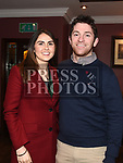 Muiris O'Sullivan and Louise Duffy at the Hunterstown Rovers social night in the Hunterstown Inn. Photo:Colin Bell/pressphotos.ie