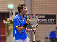December 21, 2014, Rotterdam, Topsport Centrum, Lotto NK Tennis, Men's Final, Robin Haase (NED) wins the NK and screems it out<br /> Photo: Tennisimages/Henk Koster