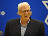 Phil Jackson, President of the New York Knicks, laughs during a team news conference at Madsion Square Garden Training Center in Greenburgh, NY on Friday, July 8, 2016.