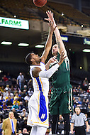 Baltimore, MD - William & Mary Tribe forward Sean Sheldon (31) shoots a hook shot over Hofstra Pride guard Ameen Tanksley (2) during the CAA Basketball Tournament at the Royal Farms Arena in Baltimore, Maryland on March 6, 2016.  (Photo by Philip Peters/Media Images International)