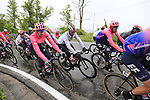 The peloton including Fernando Gaviria (COL) UAE Team Emirates climb over the Appenines and into Tuscany during a wet Stage 2 of the 2019 Giro d'Italia, running 205km from Bologna to Fucecchio, Italy. 12th May 2019.<br /> Picture: Eoin Clarke | Cyclefile<br /> <br /> All photos usage must carry mandatory copyright credit (© Cyclefile | Eoin Clarke)