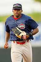 Center fielder Jackie Bradley #10 of the Greenville Drive jogs off the field at the end of an inning during the game against the Hickory Crawdads at L.P. Frans Stadium on September 3, 2011 in Hickory, North Carolina.  The Crawdads defeated the Drive 3-0.  (Brian Westerholt / Four Seam Images)
