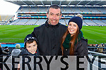 Mark Seehan, Aidan Seehan and Clodagh Seehan<br />  Ardfert supporters at the Intermediate All Ireland Club Final in Croke Park on Saturday.