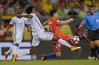 Chicago, IL - Wednesday June 22, 2016: Carlos Sanchez, Charles Aranguiz during a Copa America Centenario semifinal match between Colombia (COL) and Chile (CHI) at Soldier Field.