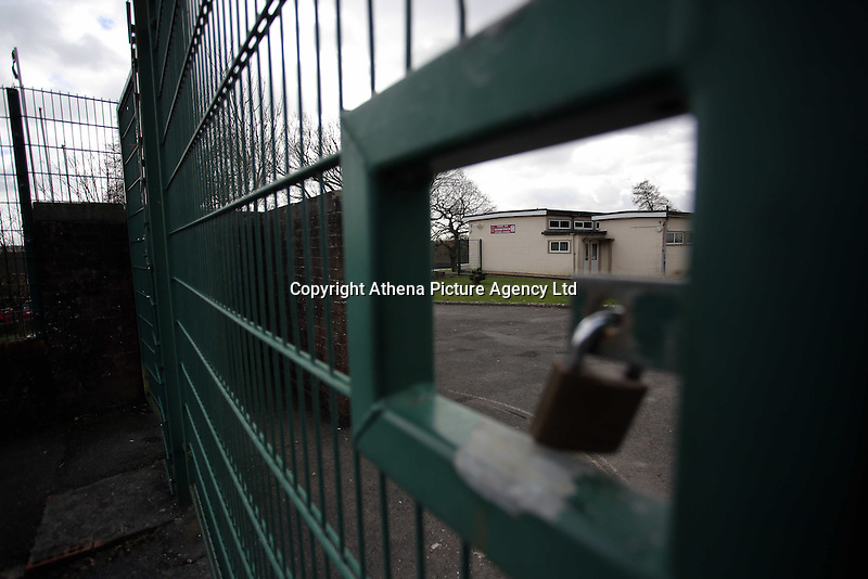 Pictured: Exterior view of Llangennech Junior School, west Wales. Thursday 24 February 2017<br />Re: Plans to convert Llangennech Junior School, a bilingual school to one teaching only welsh, has caused a bitter row between campaigners and politicians in Carmarthenshire, Wales, UK.
