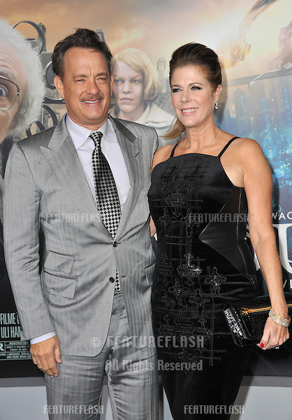 "Tom Hanks & wife Rita Wilson at the Los Angeles premiere of his new movie ""Cloud Atlas"" at Grauman's Chinese Theatre, Hollywood..October 24, 2012  Los Angeles, CA.Picture: Paul Smith / Featureflash"