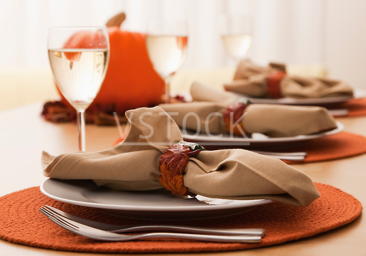 USA, Illinois, Metamora, Table setting