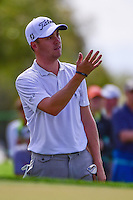 Justin Thomas (USA) reacts to his chip shot on 6 during round 1 of the Honda Classic, PGA National, Palm Beach Gardens, West Palm Beach, Florida, USA. 2/23/2017.<br /> Picture: Golffile | Ken Murray<br /> <br /> <br /> All photo usage must carry mandatory copyright credit (&copy; Golffile | Ken Murray)