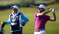 Wade Ormsby of Australia hits an approach during Round 1 of the 2015 Alfred Dunhill Links Championship at the Old Course, St Andrews, in Fife, Scotland on 1/10/15.<br /> Picture: Richard Martin-Roberts | Golffile