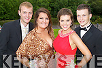 Alan Crean, Rebecca Shortt, Barbara Higgins and Jamie Moriarty pictured at the Pres Tralee debs in Ballyroe Heights Hotel on Wednesday, August 8th..