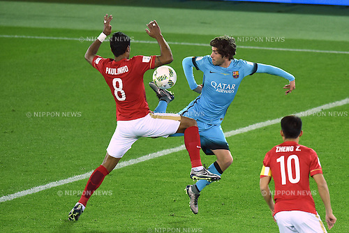 Sergi Roberto (Barcelona), <br /> DECEMBER 17, 2015 - Football / Soccer : <br /> FIFA Club World Cup Japan 2015 semi-fina match <br /> between FC Barcelona 3-0 Guangzhou Evergrande <br /> at Yokohama International Stadium, Kanagawa, Japan. <br /> (Photo by AFLO SPORT)
