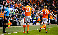 Blackpool's Armand Gnanduillet appeals to assistant referee Richard Bartlett, believing his shot had crossed the line<br /> <br /> Photographer Alex Dodd/CameraSport<br /> <br /> The EFL Sky Bet League One - Blackpool v Sunderland - Tuesday 1st January 2019 - Bloomfield Road - Blackpool<br /> <br /> World Copyright © 2019 CameraSport. All rights reserved. 43 Linden Ave. Countesthorpe. Leicester. England. LE8 5PG - Tel: +44 (0) 116 277 4147 - admin@camerasport.com - www.camerasport.com