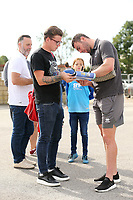Lincoln City's Grant Smith signs autographs for waiting fans as he arrives ahead of kick-off at SIncil Bank<br /> <br /> Photographer Rich Linley/CameraSport<br /> <br /> The EFL Sky Bet League One - Lincoln City v Bristol Rovers - Saturday September 14th 2019 - Sincil Bank - Lincoln<br /> <br /> World Copyright © 2019 CameraSport. All rights reserved. 43 Linden Ave. Countesthorpe. Leicester. England. LE8 5PG - Tel: +44 (0) 116 277 4147 - admin@camerasport.com - www.camerasport.com