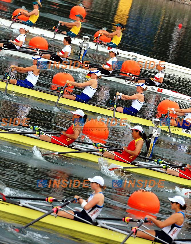 La partenza del 4 di coppia Donne<br /> Sy Rowing and Canoeing Park<br /> Pechino - Beijing 17/8/2008 Olimpiadi 2008 Olympic Games<br /> Foto Andrea Staccioli Insidefoto