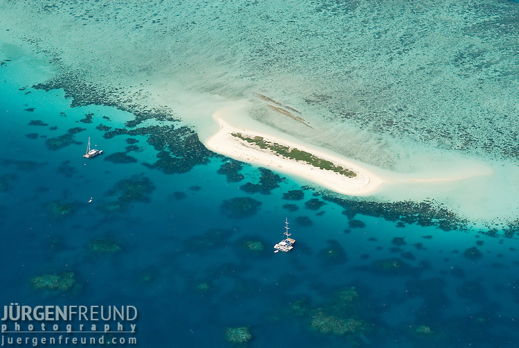 Aerial view of a Sand Cay in the Great Barrier Reef