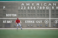 Boston Red Sox left fielder Trey Ball (57) during a Florida Instructional League game against the Baltimore Orioles on September 21, 2018 at JetBlue Park in Fort Myers, Florida.  (Mike Janes/Four Seam Images)