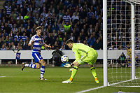 Reading's John Swift reacts after seeing his shot saved from close range by Fulham's Marcus Bettinelli          <br /> <br /> <br /> Photographer Craig Mercer/CameraSport<br /> <br /> The EFL Sky Bet Championship Play-Off Semi Final Second Leg - Reading v Fulham - Tuesday May 16th 2017 - Madejski Stadium - Reading <br /> <br /> World Copyright &copy; 2017 CameraSport. All rights reserved. 43 Linden Ave. Countesthorpe. Leicester. England. LE8 5PG - Tel: +44 (0) 116 277 4147 - admin@camerasport.com - www.camerasport.com
