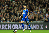 27th March 2018, Wembley Stadium, London, England; International Football Friendly, England versus Italy; Davide Zappacosta of Italy