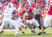 TCU Horned Frogs vs Arkansas Razorbacks –David Williams (33) of the Razorbacks running the ball against Horned Frogs at Donald W. Reynolds Razorback Stadium, University of Arkansas,  Fayetteville, AR, on Saturday, September 9, 2017,  © 2017 David Beach