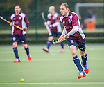 Wimbledon Hockey Club Vs East Grinstead during their England Hockey League Premier Division match at the Kings College School Hockey Club on November 23rd, 2014 in London, United Kingdom. Photo by David Klein / Power Sport Images
