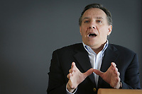 Coalition pour l'Avenir du Quebec founder Francois Legault gestures as he speak at the Maitres Chez Vous conference in Quebec city, Saturday September 24, 2011.<br /> <br /> PHOTO :  Francis Vachon - Agence Quebec Presse
