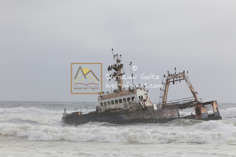 The Atlantic coast of Namibia is very treacherous and well-known for it's many ship wrecks. The wrecks make popular breeding grounds for cormorants.