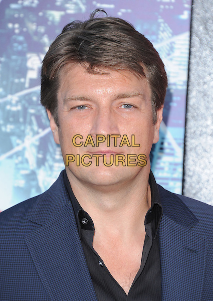 Nathan Fillion.'The Amazing Spider-Man' Premiere held at Regency Village Theater in Westwood, California, USA. .June 28th, 2012.headshot portrait blue black shirt .CAP/RKE/DVS.©DVS/RockinExposures/Capital Pictures.