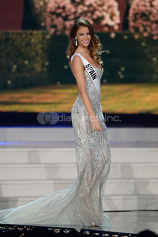 MIAMI, FL - JANUARY 21: Miss Spain Desire Cordero Ferrer participtates in The 63rd Annual Miss Universe Preliminary Show at Florida International University on January 21, 2015 in Miami, Florida. Credit: mpi04/MediaPunch ***NO NY DAILIES OR NEWSPAPERS***